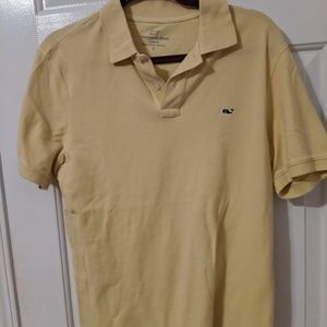 Vineyard Vines Size Small Yellow Polo EUC